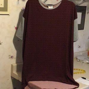 LuLaRoe Irma tunic top Size Small